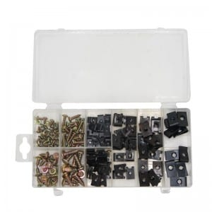 JC8008 170Pcs Screw And U Type Cushions Assortment