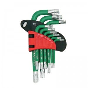 JC1302 9Pcs Short Arm Hex Key Set