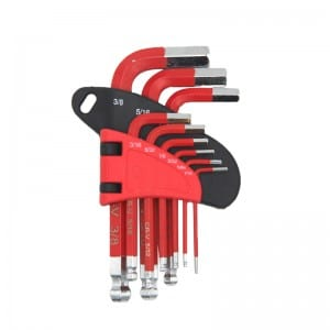 JC1304 9Pcs Short Arm Hex Key Set