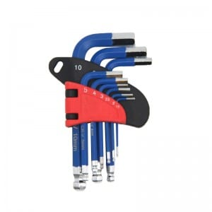 JC1303 9Pcs Short Arm Hex Key Set